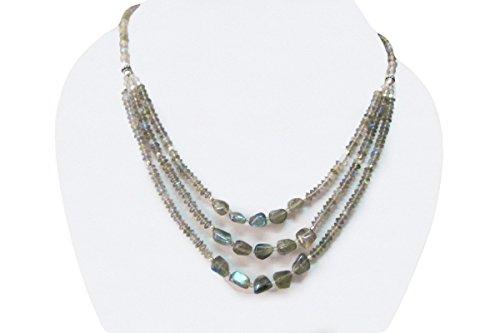 Labradorite Multi Strand Beads Necklace Jewelry 16