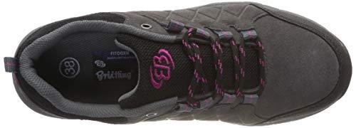 Femme Marche Pink Nordique Grau Schwarz Schwarz Chaussures Walker Grau Brütting de Pink Gris nqxHX4tw