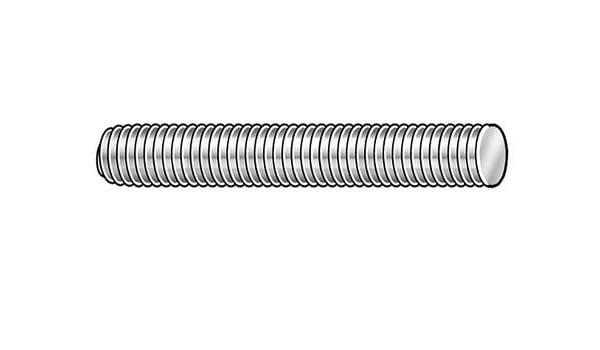 """10 pk. 1//4/""""-20 x 3/"""" Plain 304 Stainless Steel Fully Threaded Studs"""