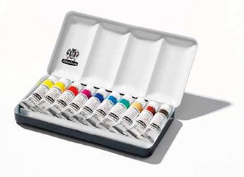 SCHMINCKE Horadam Aquarell Set of 10, 15ml Tubes'' A Metal Box (74510097) by Schmincke