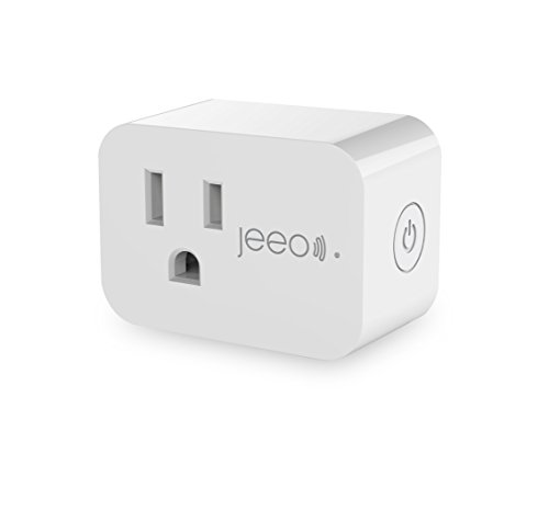 Jeeo Mini Smart Plug WiFi Outlet Works with Timer Amazon Alexa Google Assistant IFTTT, No Hub Required, FCC ETL RoHS Certified, Voice Remote Control Socket White (SH331W/One)