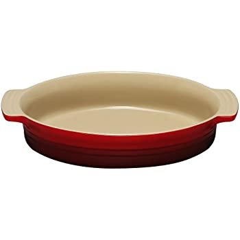 Le Creuset Stoneware 9-Inch Oval Baking Dish, Cherry