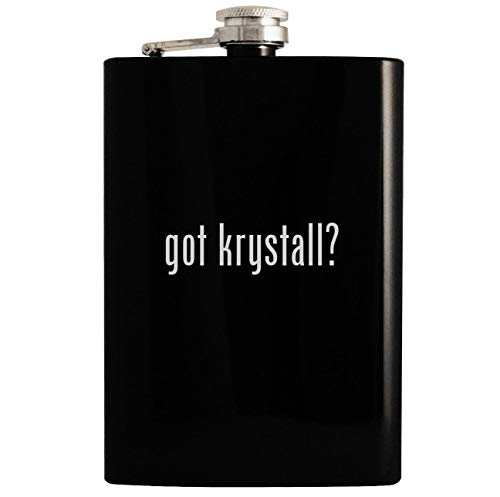 got krystall? - 8oz Hip Drinking Alcohol Flask, Black ()