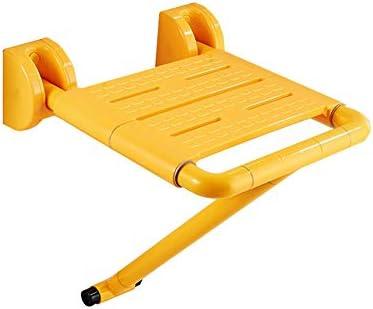 踏み台 掛かる折るシャワーの座席の椅子浴槽の安全スツールスペースを節約 ,しっかりと安定強い支持力壁に取り付けられた浴槽安全スツールダウン脚折りたたみ式バススツール高齢者、障害者、肥満、負傷者に使用できます (Color : 黄)