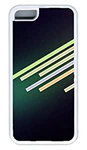 Abstract Lines Design DIY Rubber White iphone 5C Case Perfect By Custom Service