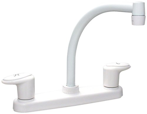 Phoenix PF221202 Catalina 8in High Arc Spout Deck Faucet, White