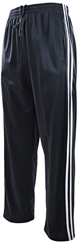ChoiceApparel Mens Warm Up Track Pants with Stripes (2XL, 6321-Charcoal)