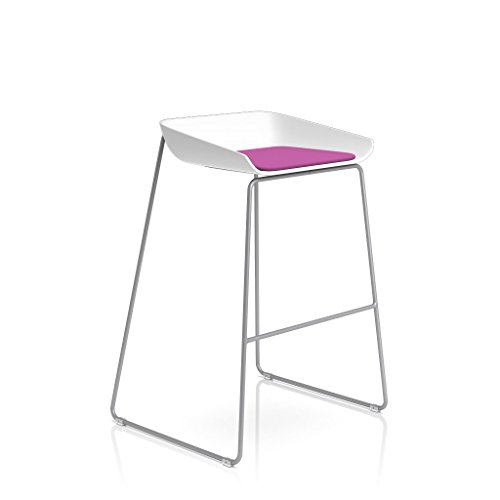 Steelcase Platinum Base with Standard Carpet Glides Scoop Stool, Concord by Steelcase