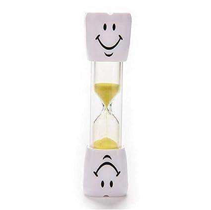 XeibD - Temporizador de cepillo de dientes para niños con arena sonriente de tres minutos (