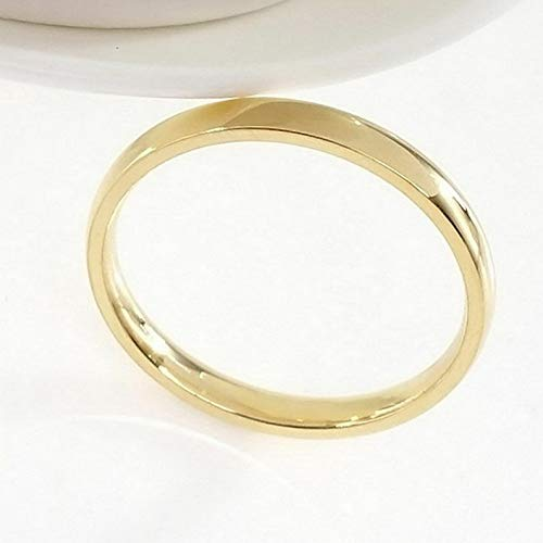 Campton 4mm Band Ring Polished Wedding Women Stainless Steel Size 5-13 Engagement Party | Model RNG - 12039 | 10