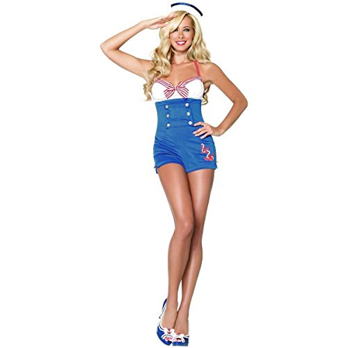 Tftw Sailor Costume Adult Pin-up Girl Outfit Halloween Fancy Dress -