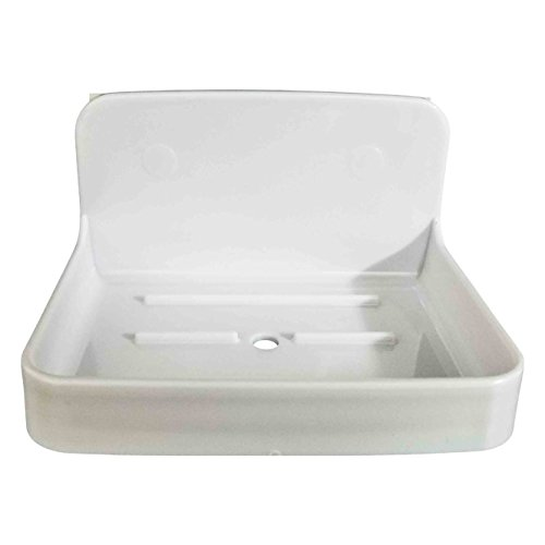 """EVIDECO 9722100 Bath Soap Dish Holder Cup SALI Adhesive or to Be Fixed White, 4.3"""" L x 3.2"""" W x 2.4"""" H from EVIDECO"""