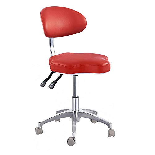 SoHome Portable Doctor's Stool Polygon Shape Dentist Chair Micro Fiber Leather Mobile Chair Height Adjustment by SoHome (Image #5)