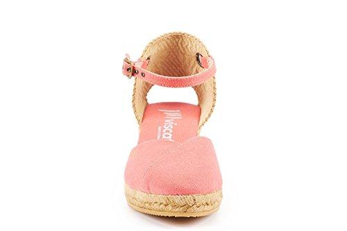 con 5 Made caviglia Corallo Espadrillas Spain Viscata cm e punta alla cinturino Pubol in con zeppa da chiusa classiche qHxxZwgOt