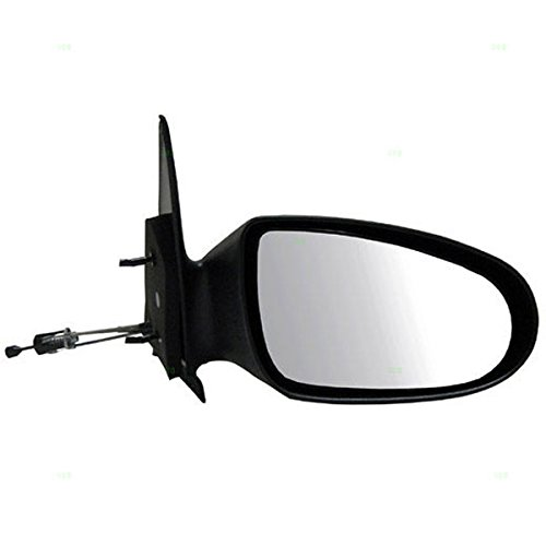 1995-1999 Dodge Neon, Plymouth Neon Manual Remote Cable Operated Black Fixed Non-Folding Rear View Mirror Right Passenger Side (1995 95 1996 96 1997 97 1998 98 1999 99)