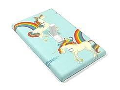 Blue Unicorn and Rainbows Light Switch C...
