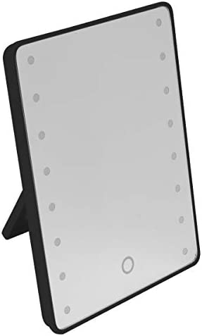 360度回転メイクアップミラー16枚のLED調節可能なタッチスクリーン化粧品美容デスクトップ化粧テーブルスタンドミラー