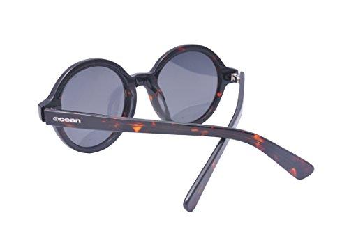 Ocean Sunglasses Japan - lunettes de soleil polarisées - Monture : Marron - Verres : Fumée (4000.3) P4iVM
