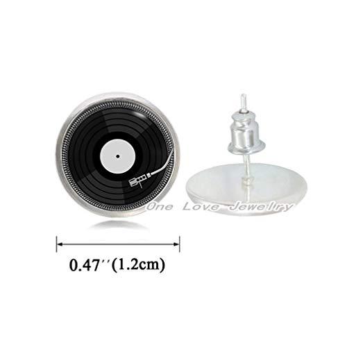 (Ni36uo0qitian0ozaap Retro Music Stud Earrings DJ Vinyl Stud Earrings Vinyl Record Stud Earrings Earrings Jewelry Gift,TAP086)