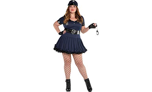AMSCAN Locked N Loaded Cop Halloween Costume for Women, Plus Size with Included Accessories ()