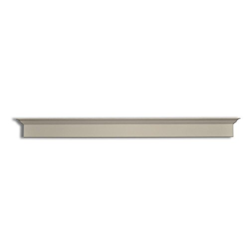 Pinecroft 3 in. x 7.5 in. x 88 in. Primed White Pine Crown Barn Door Mounting Board