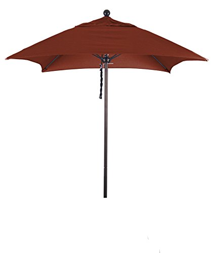 Eclipse Collection 6' Fiberglass Market Umbrella PO DVent (Terra Bronze Outdoor Hanging)
