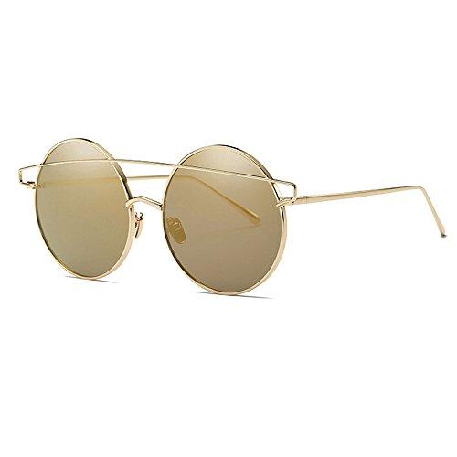 Color Retro para de Sol Sol Marco Gafas Película Metal Coloridas de Moda de B B reflexivas Gafas Sol Hombre para Gafas Reflectante de Gafas Colorida qBwT5