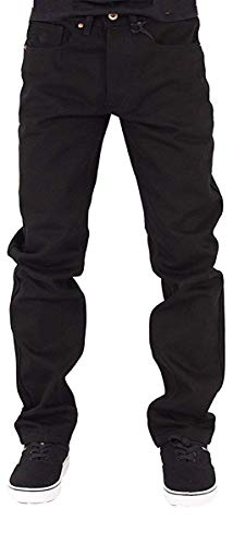 (Rocawear Mens Boys Black Double R Star Relaxed Fit Jeans is Money G Hip Hop Time (W38 - L34,)