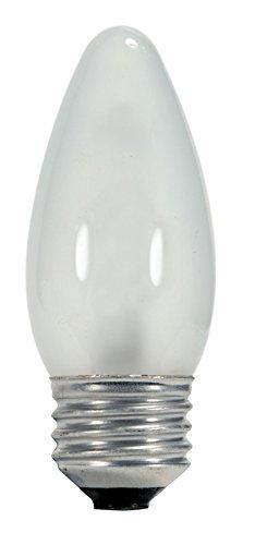 Satco 43ETF/HAL/120V/E26/CD Halogen Decorative, 43W E26 Torpedo, 24 Frosted Bulbs
