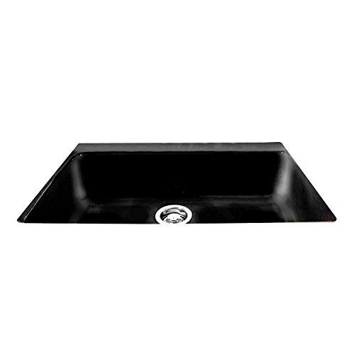 CECO Sinks-Delray 754-UM-78 Single Bowl Undermount Cast Iron Kitchen Sink 33