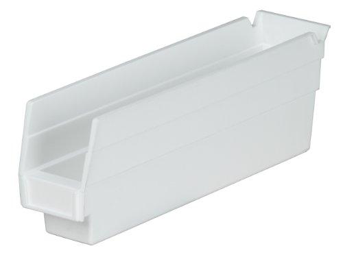 UPC 032903011043, Akro-Mils 30110 12-Inch by 2.75-Inch by 4-Inch Plastic Nesting Shelf Bin Box, White, Case of 24