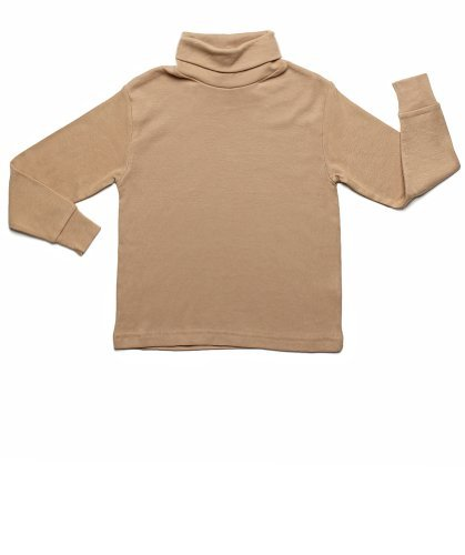 Leveret Solid Turtleneck 100% Cotton (6 Years, ()