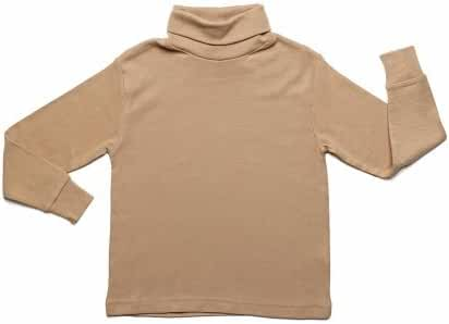 Leveret Little Girls Solid Turtleneck 100% Cotton (2-6 Years) Variety of Colors