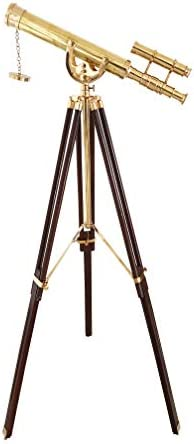collectiblesBuy Nautical Traditional Floor Standing Solid Brass Telescope Anchor-Master Arc Mount Tripod Decorative Home Decor