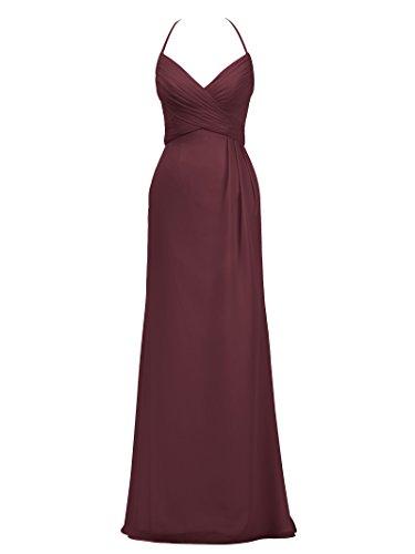 for Spaghetti Dresses Women Party Evening Alicepub Long Halter Black Bridesmaid Dress qFRnIpw