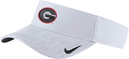 Nike Men's Georgia Bulldogs White Aerobill Football Sideline Visor ()