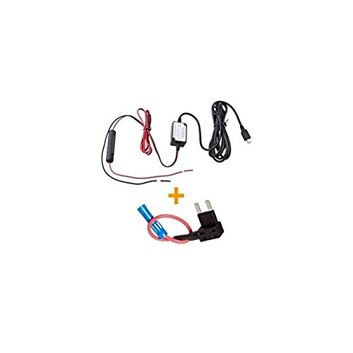 Spy Tec Mini USB Dash Cam 10 Foot Hardwire and Fuse Kit for A119 A119S G1W G1WS MiniUSB + Fuse Kit-M