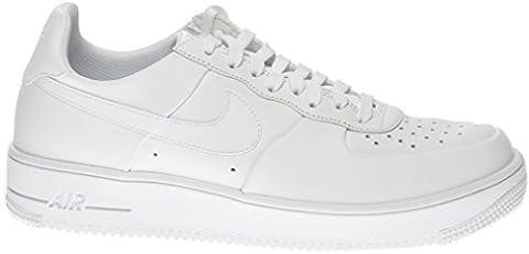 Nike Men's Air Force 1 Ultraforce Leather White/White/White Basketball Shoe 10.5 Men US