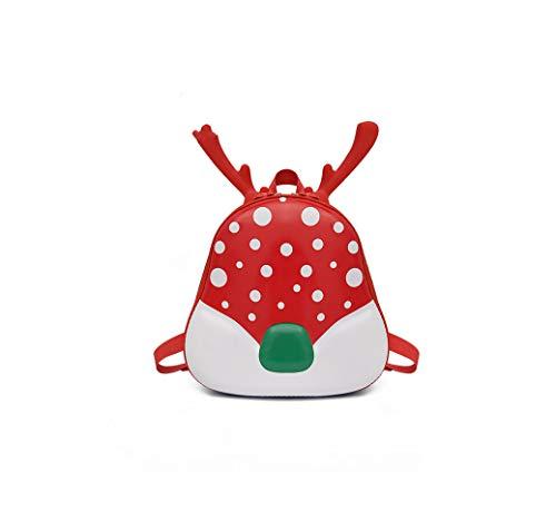 Rainie002 2019 Creative Children School Bag Christmas Cute Cartoon Deer Backpack Boys And Girls Nursery Backpack B,C Red,25X26X10 Cm (Best Golf Swing Training Aids 2019)