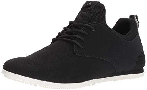 ALDO Men's PREILIA Sneaker, Black Leather, 12 D US ()