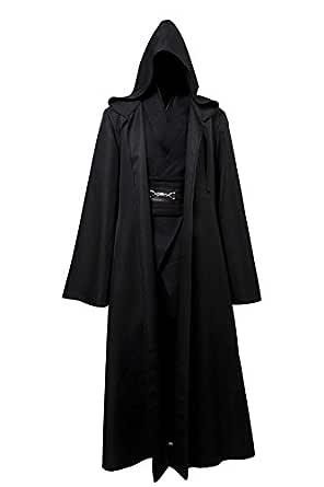 Jeylu Star Wars Anakin Skywalker Cosplay Disfraz Negro versión UE de tamaño