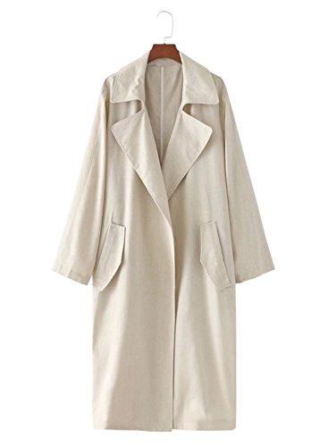 Futurino - Abrigo impermeable - para mujer Beige