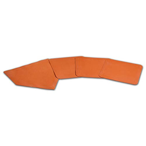 Champro Throw Down Rubber Bases, Set of 4 (Orange) ()