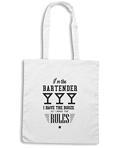 BOOZE I HAVE I THE AM BARTENDER SO MAKE RULES I BEER0231 THE Shopper THE Borsa Bianca UwxvtqaUA