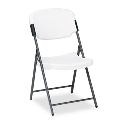 Flexible seat and back for added comfort. - ICEBERG ENTERPRISES Rough N Ready Resin Folding Chair, Steel Frame, (Iceberg Enterprises Folding Chair)