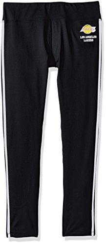 Lakers Warm Up Pants (NBA Los Angeles Lakers Women's Warm Up Leggings, Medium, Black)