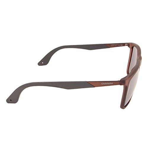 Marrón Slv Grey para Fl Gafas sol de Rectangulares 5018 hombre Grey Matte Brown Carrera S 8q6Tw