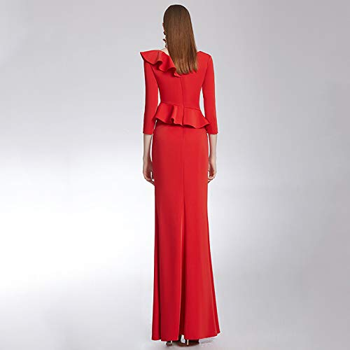 Était V Porte Cocktailnouvelle Robe Mariée Soirée Costume Col Rouge Toast Section Bingqz Longue Vêtements X De wPSqq6