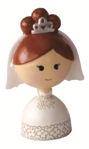Ivy Lane Design Wedding Accessories Kokeshi Doll, Light Brunette Bride, 4.5-Inch Tall -