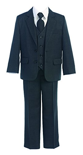 5-Piece Boys Two Button Formal Suit with Shirt